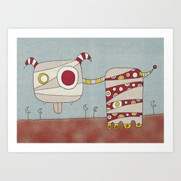 Red Blah Art Print