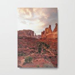 Fire Red Rock Formations in Utah Metal Print