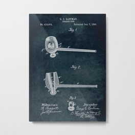 1890 - Tabacco pipe patent art Metal Print