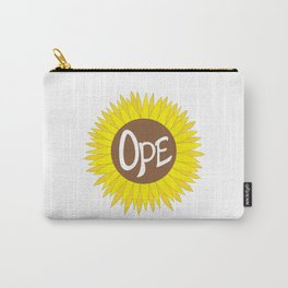 Hand Drawn Ope Sunflower Midwest Carry-All Pouch