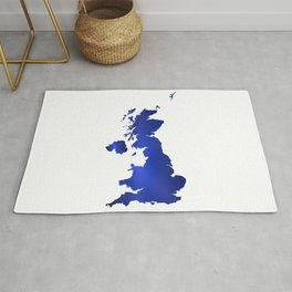 United Kingdom Map silhouette Rug