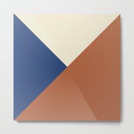 Origami geo tile // Multi-color Metal Print
