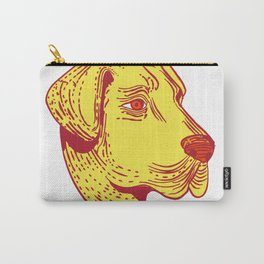 Anatolian Shepherd Dog Head Etching Color Carry-All Pouch