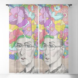 Notorious RBG Sheer Curtain