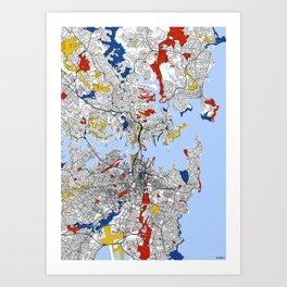 Sydney mondrian Art Print