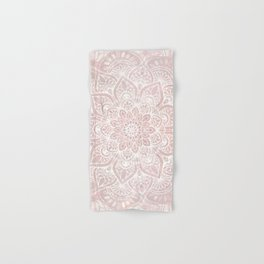Mandala Yoga Love, Blush Pink Floral Hand & Bath Towel
