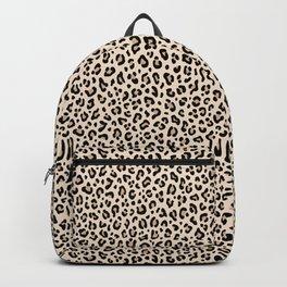 BLACK and WHITE LEOPARD PRINT – Ecru | Collection : Leopard spots – Punk Rock Animal Prints. Backpack
