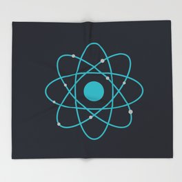 Atom, Molecules, DNA, Science decor, science class Throw Blanket