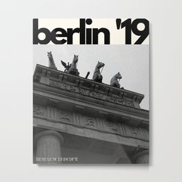 Berlin Magazine Metal Print