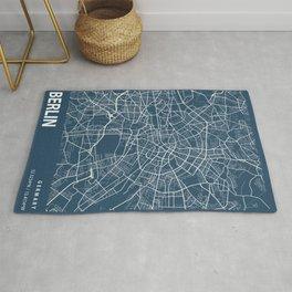 Berlin Blueprint Street Map, Berlin Colour Map Prints Rug