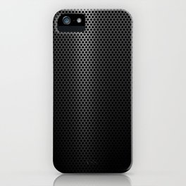 Hex pattern punched metal iPhone Case
