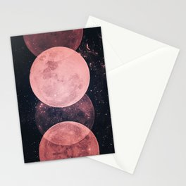 Pink Moon Phases Stationery Cards