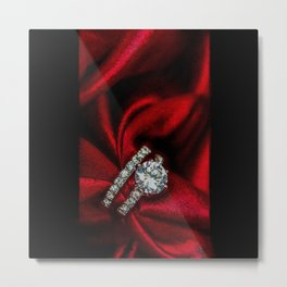 Diamond & red silk - 206 Metal Print
