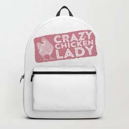 Crazy Lady Like Chicken Backpack