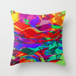Abstract Shreds Throw Pillow