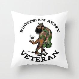 Rhodesian Army Veteran (Color) Throw Pillow
