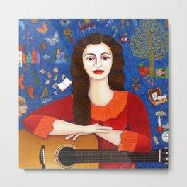 "Violeta Parra - ""Thanks to Life "" Metal Print"