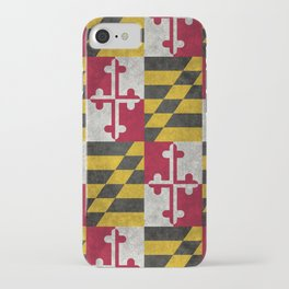 Maryland State flag - Vintage retro style iPhone Case