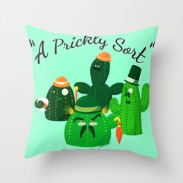 A Prickly Sort: League of Gentlemen Throw Pillow