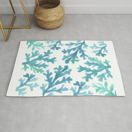 Blue Ombre Coral Rug