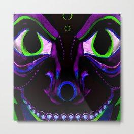 Demon Ethnic Mask Extreme Close Up Illustration Metal Print