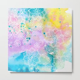 Watercolour abstract floral 1 Metal Print