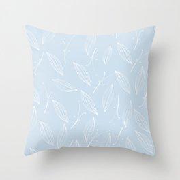 leaves of rosemary - baby light blue Throw Pillow