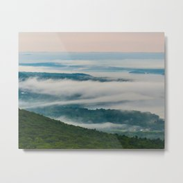 """Farm Below the Clouds"" Metal Print"