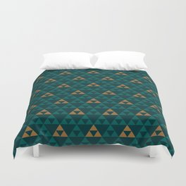 The Golden Power (Green) Duvet Cover