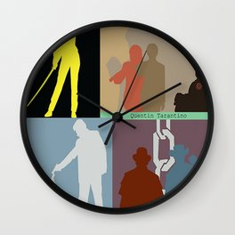 Quentin Tarantino Movie Collage Wall Clock