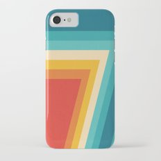 Colorful Retro Stripes  - 70s, 80s Abstract Design iPhone 7 Slim Case