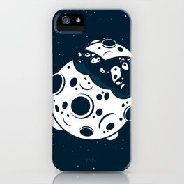 Broken Moon iPhone Case