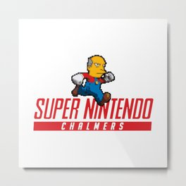 Super Nintendo Chalmers Metal Print
