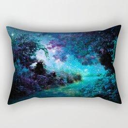 Fantasy Garden Path Teal Purple Rectangular Pillow