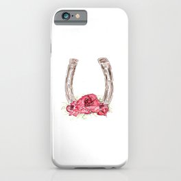 Derby Horseshoe, Roses, Kentucky, Races iPhone Case