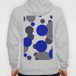 Bubbles blue grey- white design Hoody
