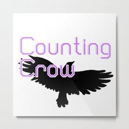 Counting Crow Metal Print