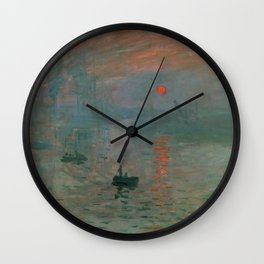 Impression, Sunrise Wall Clock