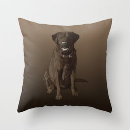 Chocolate Labrador Retriever Brown Dog Throw Pillow