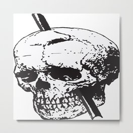 Frontal Lobotomy Skull Of Phineas Gage Vector Isolated Metal Print