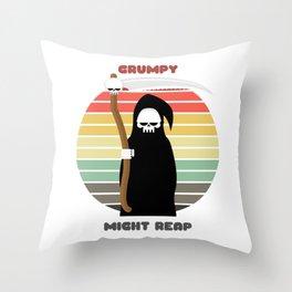 Sunset Reaper / Grumpy, Might Reap Throw Pillow