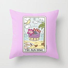ACAI BOWL READING Throw Pillow