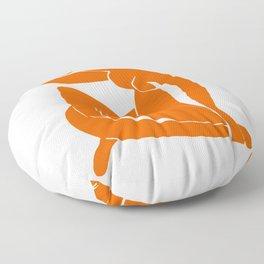 Orange Nude Girl Floor Pillow