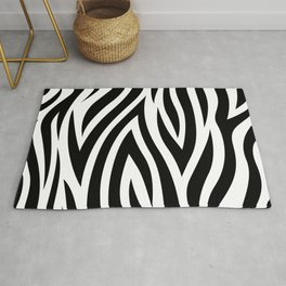 Large Zebra Animal Print Rug