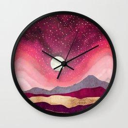 Scarlet Night Wall Clock
