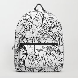 Face'in the hands Backpack