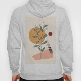 Minimal Line Young Leaves Hoody