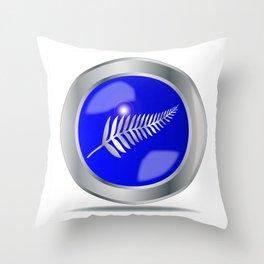 Silver Fern Button Throw Pillow