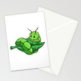 Caterpillar eats Leaf Stationery Cards