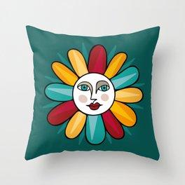 Sun Queen I Throw Pillow